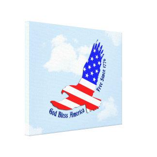 Bandera americana Eagle 4to de la decoración del Lona Envuelta Para Galerias