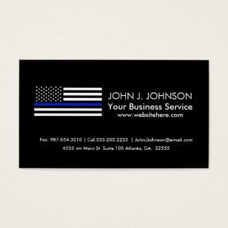 Bandera americana fina de Blue Line Tarjeta De Visita