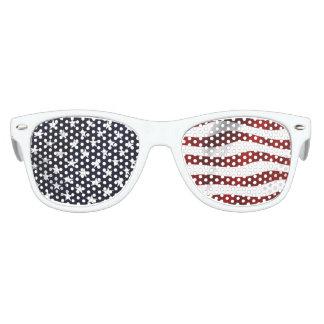 Bandera americana gafas de fiesta retro