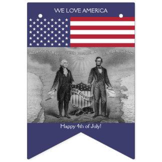Bandera americana George Washington Abraham