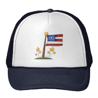Bandera americana gorras