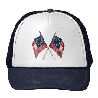 Bandera americana ilustrada original del vintage gorros bordados
