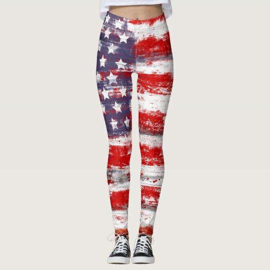 Bandera americana leggings