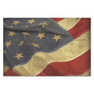 Bandera americana papel de seda
