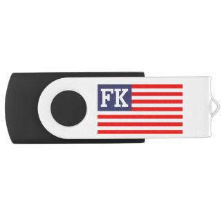 Bandera americana patriótica personalizada del memoria USB