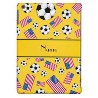 Bandera americana personalizada del fútbol amarill