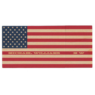 Bandera americana personalizada USB de los Memoria USB De Madera
