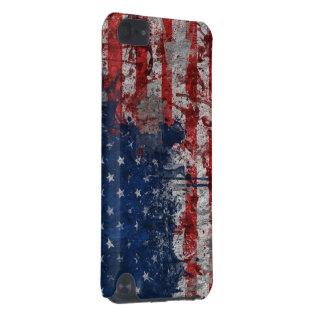 Bandera americana pintada en la pared del Grunge Funda Para iPod Touch 5G