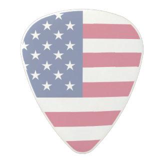 Bandera americana púa de guitarra de policarbonato