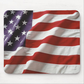 Bandera americana que agita Mousepad