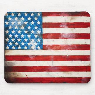 Bandera americana resistida Mousepad Alfombrilla De Ratón
