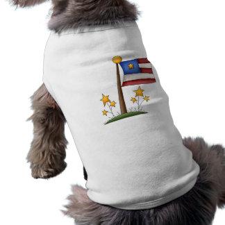 Bandera americana ropa perro