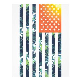 Bandera americana tropical folleto 21,6 x 28 cm