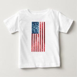 bandera americana vertical camiseta de bebé