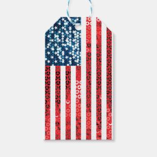 bandera americana vertical etiquetas para regalos