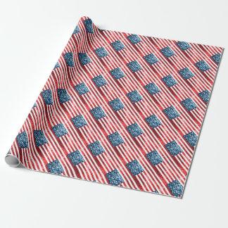 bandera americana vertical papel de regalo