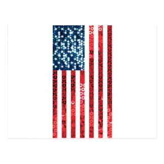 bandera americana vertical postal