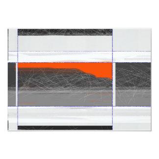 Bandera anaranjada abstracta invitación 12,7 x 17,8 cm