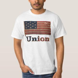 Bandera antigua apenada de la guerra civil del camiseta