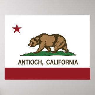 Bandera Antioch del estado de California Impresiones
