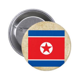 Bandera apenada de Corea del Norte Chapa Redonda 5 Cm