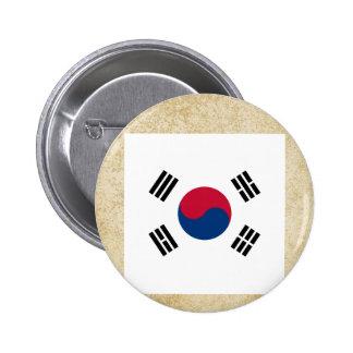 Bandera apenada de la Corea del Sur Chapa Redonda 5 Cm