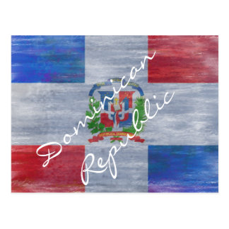 Bandera apenada de la República Dominicana Postal