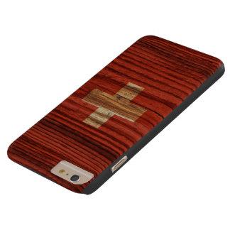 Bandera apenada de Suiza Funda De iPhone 6 Plus Barely There