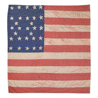 Bandera apenada manchada de la guerra civil del bandanas