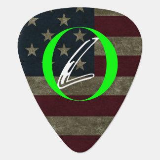 Bandera apenada, marca de la lealtad, púa de púa de guitarra