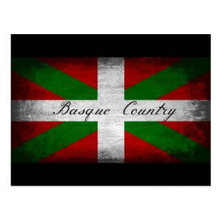Bandera apenada país vasco postal