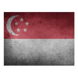 Bandera apenada vintage de Singapur Postal