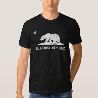 Bandera apenada vintage del estado de la república camiseta