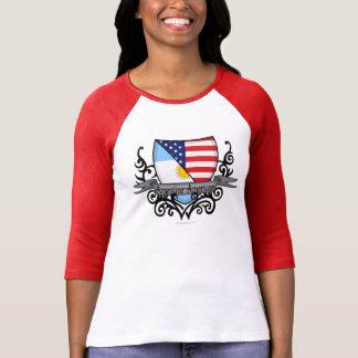 Bandera Argentina-Americana del escudo Camisetas