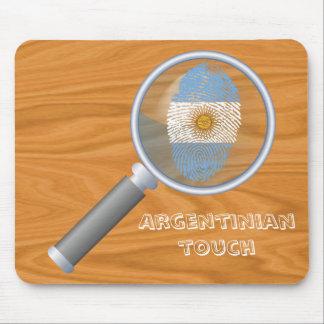 Bandera argentina de la huella dactilar del tacto alfombrilla de ratón