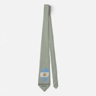 Bandera argentina de la huella dactilar del tacto corbatas personalizadas