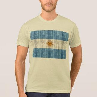 Bandera argentina de madera camiseta