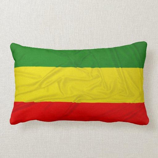 Bandera arrugada de Rastafarian Cojin