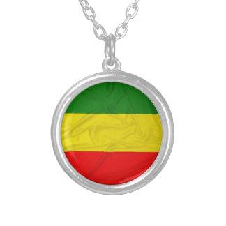 Bandera arrugada de Rastafarian Pendiente Personalizado