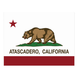 Bandera Atascadero del estado de California Tarjeta Postal