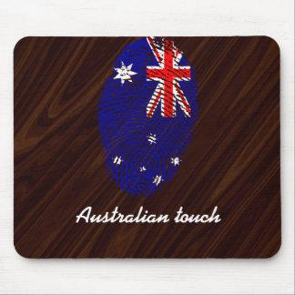 Bandera australiana de la huella dactilar del alfombrilla de ratón