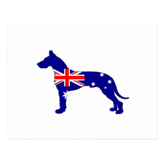 Bandera australiana - great dane postal