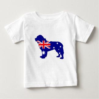 Bandera australiana - perro de Terranova Camiseta De Bebé