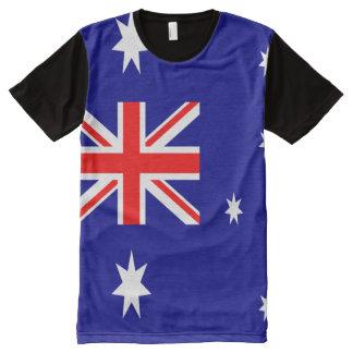 Bandera australiana por completo camiseta con estampado integral