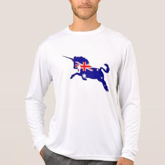 Bandera australiana - unicornio camiseta