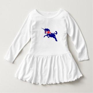 Bandera australiana - unicornio vestido