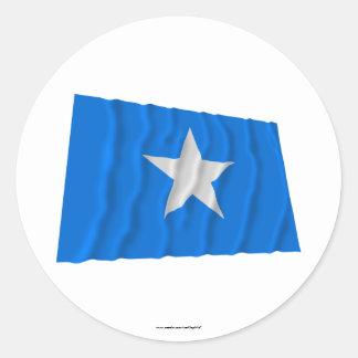 Bandera azul de Bonnie/al oeste bandera de la Pegatina Redonda