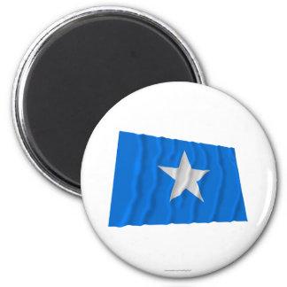 Bandera azul de Bonnie/al oeste bandera de la repú Imán De Nevera