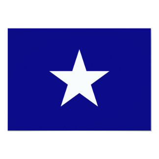 Bandera azul de Bonnie con la invitación blanca Invitación 12,7 X 17,8 Cm