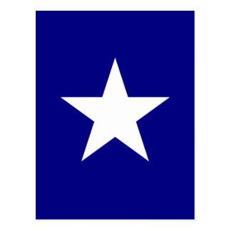 Bandera azul de Bonnie con la postal blanca